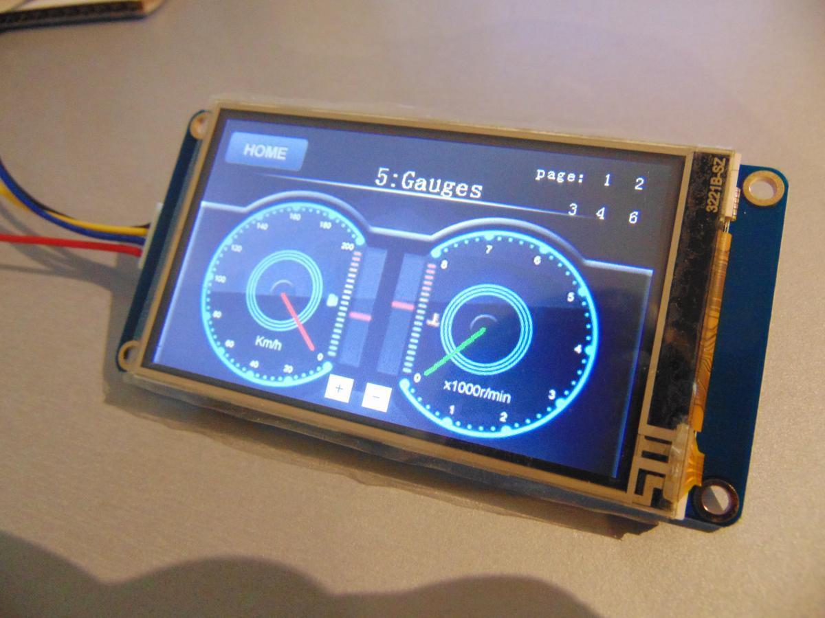 Nextion 3 2 Quot Tft Touchpanel Mit Gui Controller B 246 Cker